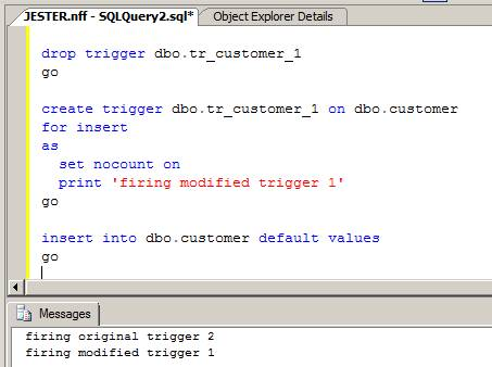how to create a update trigger in sql