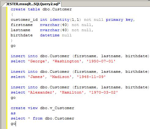 Table changes not automatically reflected in a sql server view - Alter table sql server example ...