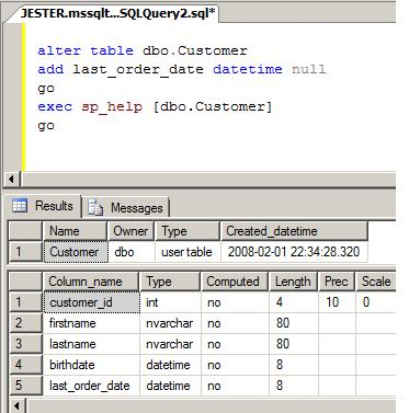 Table changes not automatically reflected in a sql server view - Sql server alter table modify column ...