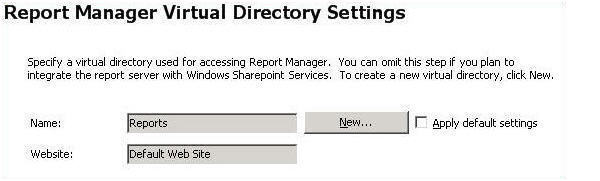 manager virtual directory settings