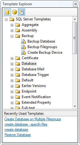 building and customizing sql server script templates