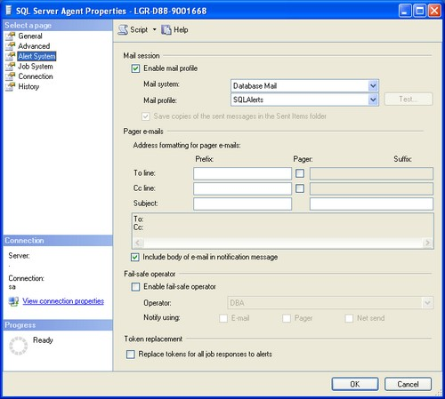 How to setup SQL Server alerts and email operator notifications