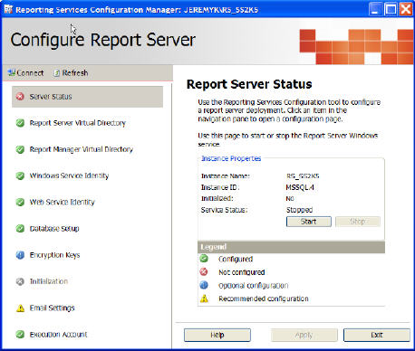 Post Installation Tasks for SQL Server 2005 Reporting Services