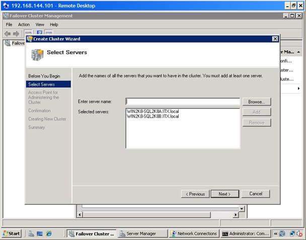 Install SQL Server 2008 on a Windows Server 2008 Cluster Part 2