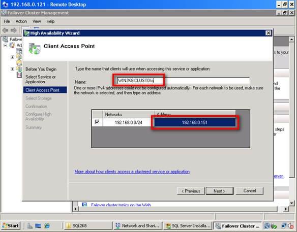 Install SQL Server 2008 on a Windows Server 2008 Cluster Part 3