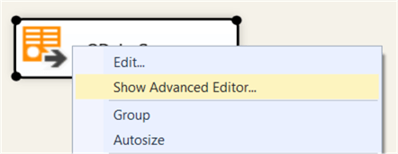 open advanced editor