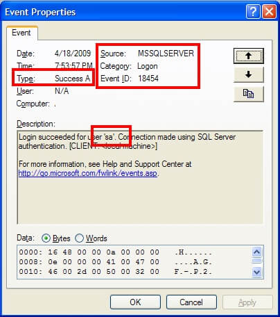 Event - SQL Server Login Success