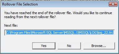 Trace file rollover
