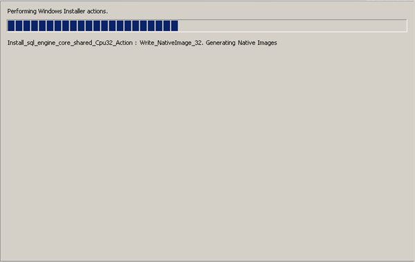 Installation component during SQL Server 2008 installation