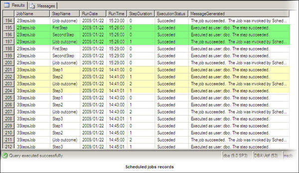 Analyzing SQL Agent Job and Job Step History in SQL Server