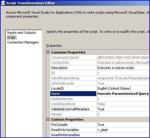 Oracle Parameterized Queries in SQL Integration Services SSIS