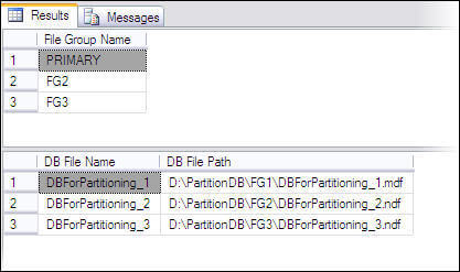 Creating a table with horizontal partitioning in SQL Server