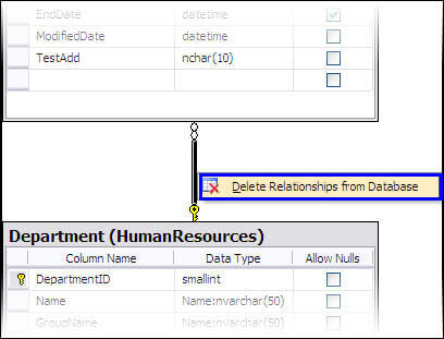 Getting started with sql server database diagrams to delete multiple relations at one time you may select multiple and use either the database diagrams menu or ccuart Choice Image