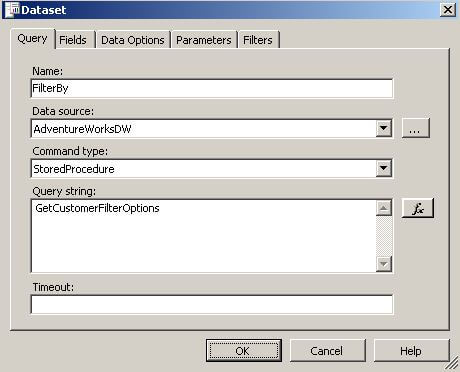 Creating Dynamic Report Filters in SQL Server Reporting