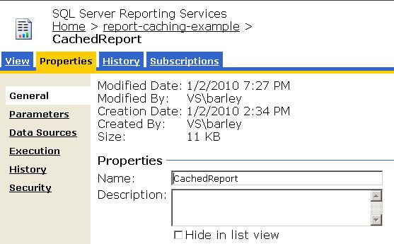 Invalidating report cache for reporting