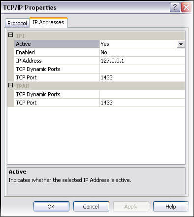 view or edit TCP-IP ports for SQL Server