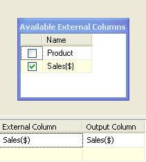 avaiable external columns