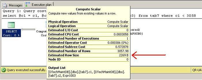 compute scalar