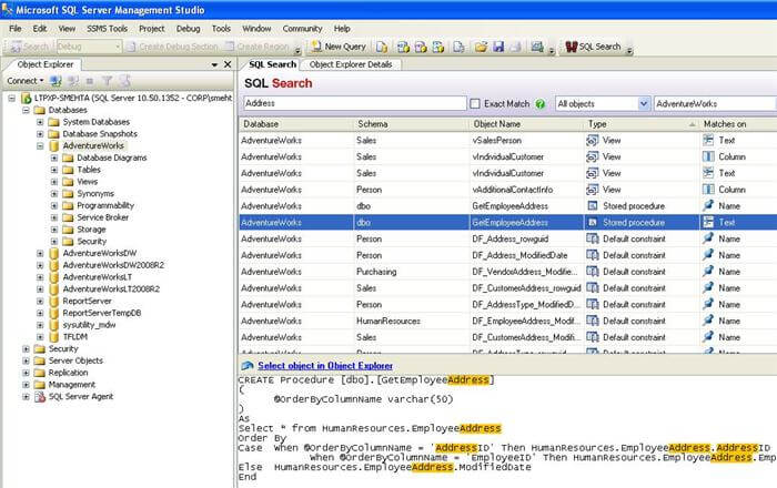 SQL Search Add-in
