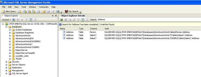 As a part of the enhancements in SSMS 2008, object explorer details window has a nice object search toolbar