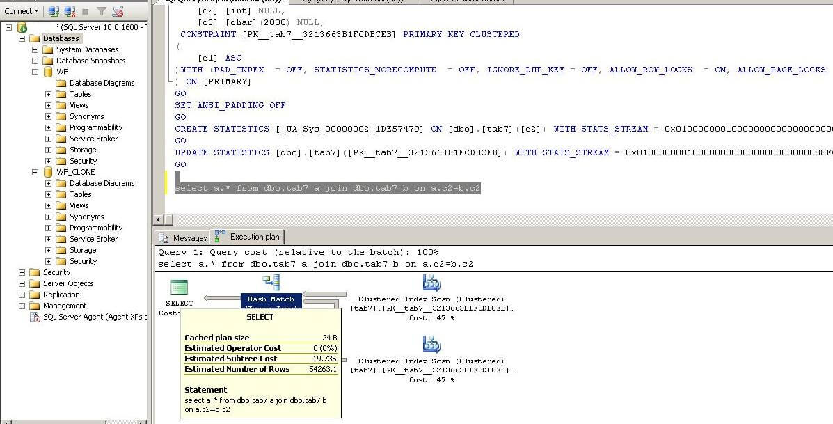 How To Create A Sql Server Clone Statistics Only Database