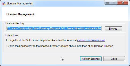 aunch SSMA from the Start Menu.  Upon initial launch you will be required to license (free) the SSMA tool