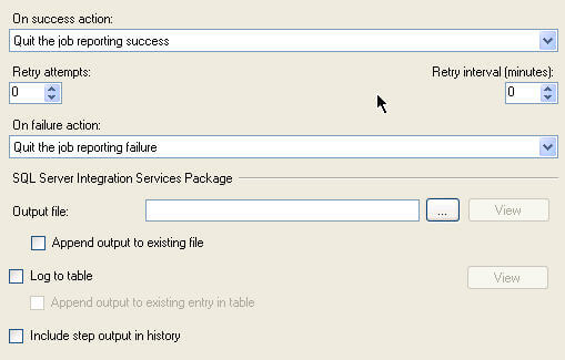 It is always recommended to configure the SQL Server job steps to output more verbose messages