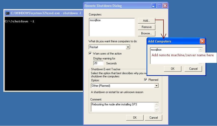 Remotely Shutdown, Restart or Log Off the local or network computers