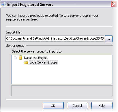 To import we use the same menu in SSMS that we used for the export, but select import instead