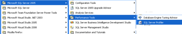 With SQL Server 2005 2008 you can load profiler few ways