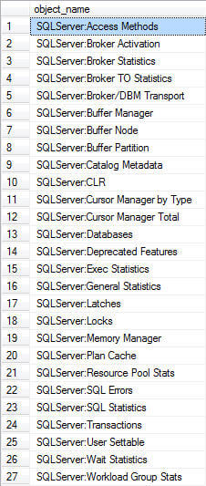 you can collect counter information that you would receive from PerfMon for the various SQL Server counters