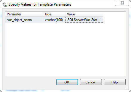 typical behavior for a T/SQL batch with an identified template parameter syntax embedded