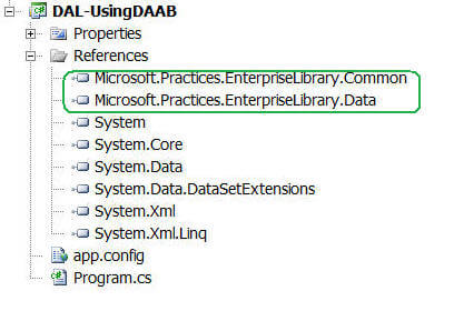 Using Data Access Application Block DAAB in SQL Server Part