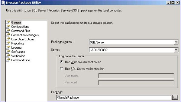 Executing SSIS Packages