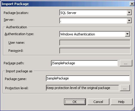 You can use SSMS to import an SSIS package from SQL Server, the file system or the package store