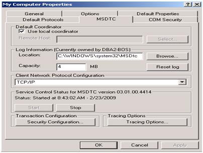 There is a chance of an MS-DTC security configuration change