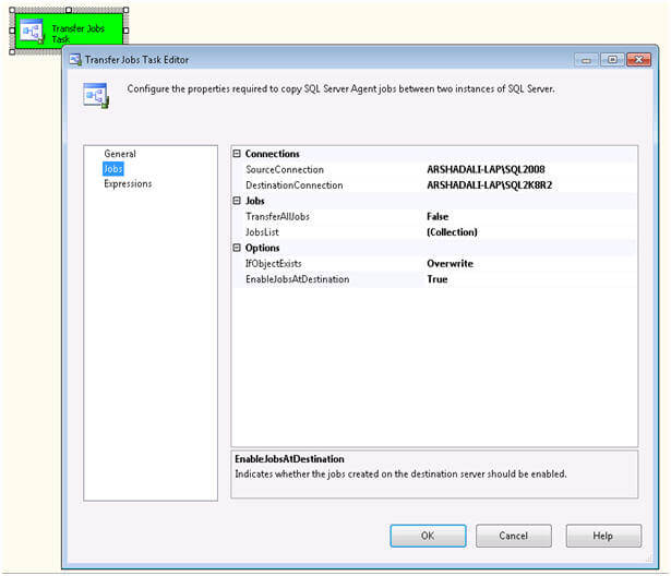 transfer SQL Server Agent jobs from one SQL Server instance to another