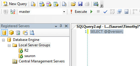 identify the SQL instance and database you're executing against