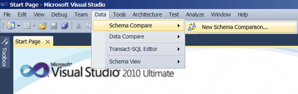 how Schema Comparison works on Visual Studio 2010 Ultimate edition