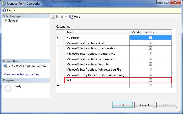 Expand the Management folder in SQL Server Management Studio, Right Click the Policy Management node