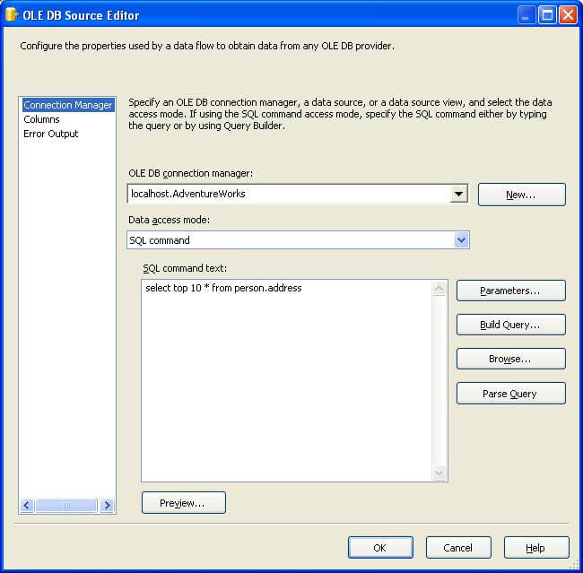 implement an ETL solution ia a SSIS package