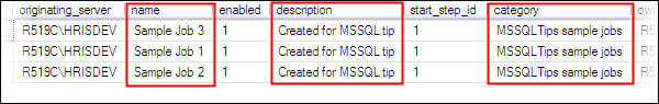 confirm the changes by running sp_help_job system stored procedure in MSDB database