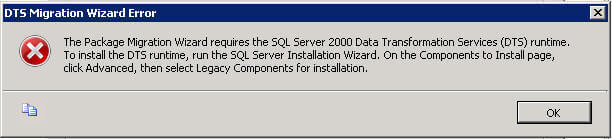 converting DTS packages from SQL Server 2000 to SQL Server 2008
