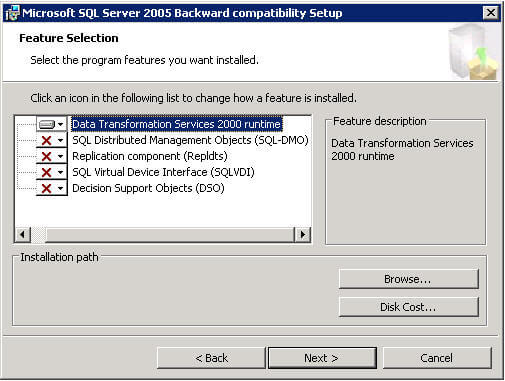 sql server 2000 dts designer components 2008 download