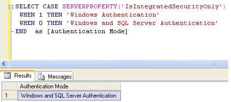 check using server property