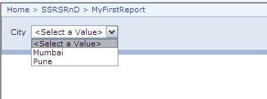 "select ""Manage"" from the options available for the report and move to the ""Parameters"" tab"
