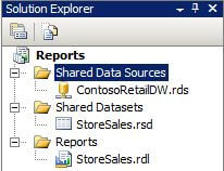 create a new shared data source in a BIDS Report Server project