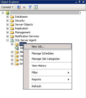 open ssms and navigate to sql server agent