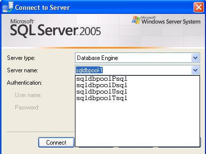 how to clear the the server list in sql 2005 and sql 2008