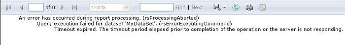 as result, the report will because the dataset processing took longer than the timeout value